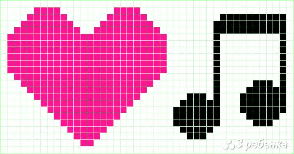 Схема фенечки прямым плетением 14333