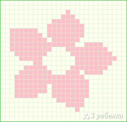 Схема фенечки прямым плетением 14419
