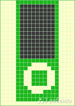 Схема фенечки прямым плетением 14381