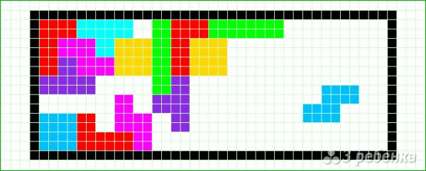 Схема фенечки прямым плетением 14619