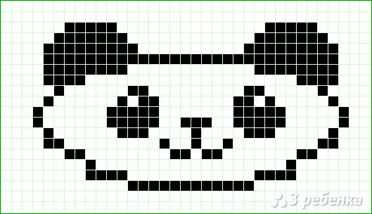Схема фенечки прямым плетением 14614