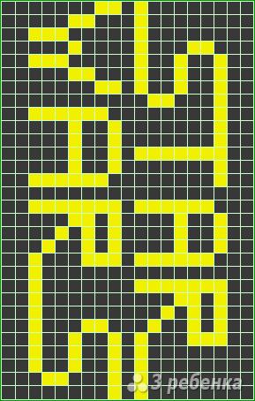 Схема фенечки прямым плетением 14347
