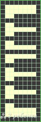 Схема фенечки прямым плетением 14540