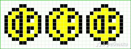 Схема фенечки прямым плетением 14413