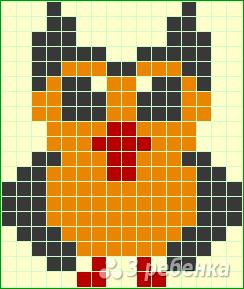 Схема фенечки прямым плетением 14511