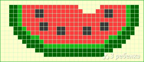 Схема фенечки прямым плетением 14281