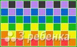 Схема фенечки прямым плетением 14425