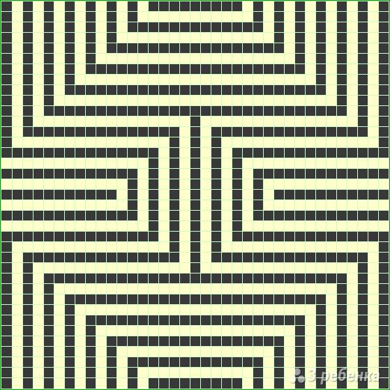 Схема фенечки прямым плетением 14307