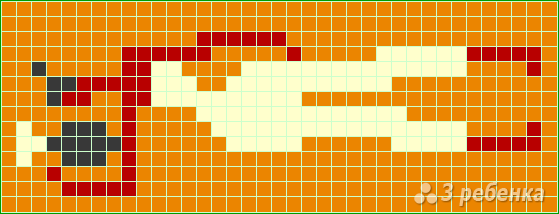Схема фенечки прямым плетением 14375