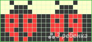 Схема фенечки прямым плетением 14609