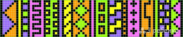 Схема фенечки прямым плетением 14470