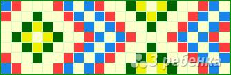 Схема фенечки прямым плетением 14328