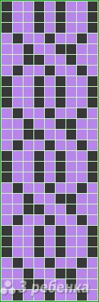 Схема фенечки прямым плетением 14455