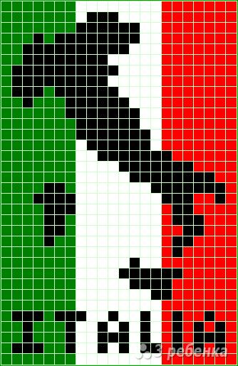Схема фенечки прямым плетением 14274