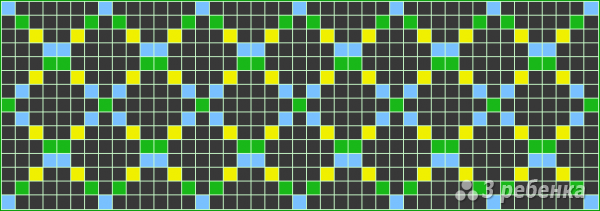 Схема фенечки прямым плетением 14436
