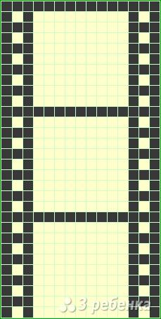 Схема фенечки прямым плетением 14407