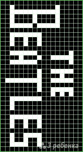 Схема фенечки прямым плетением 14592