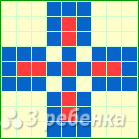 Схема фенечки прямым плетением 14495