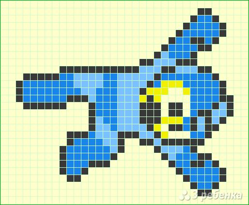 Схема фенечки прямым плетением 14534