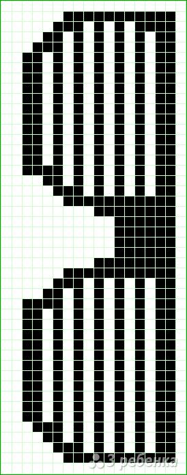 Схема фенечки прямым плетением 14574