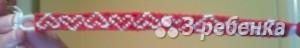 Схема фенечки прямым плетением 14690