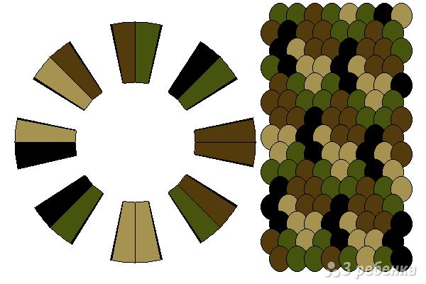 Схема фенечки кумихимо 15470