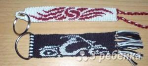 Схема фенечки прямым плетением 14652