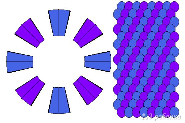 Схема фенечки кумихимо 15446