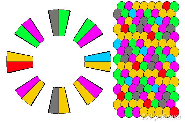 Схема фенечки кумихимо 15436