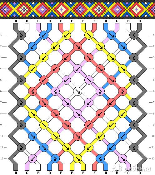 Схема фенечки 14031