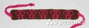 Схема фенечки прямым плетением 14744