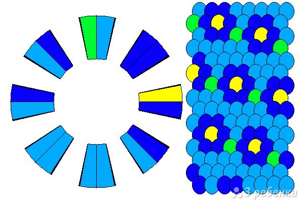 Схема фенечки кумихимо 15431