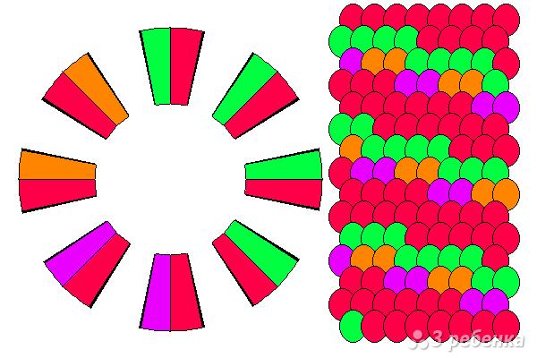 Схема фенечки кумихимо 15708