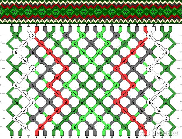 Схема фенечки 15817