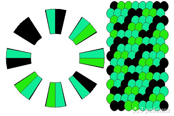 Схема фенечки кумихимо 15700