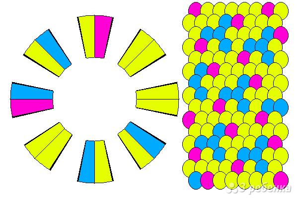 Схема фенечки кумихимо 15696