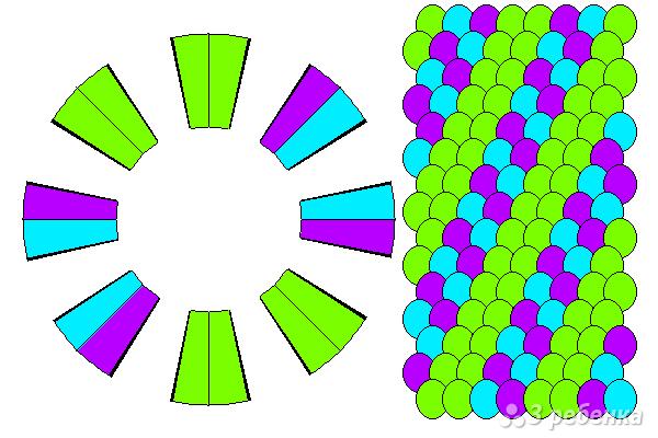 Схема фенечки кумихимо 15460