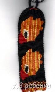 Схема фенечки прямым плетением 14862