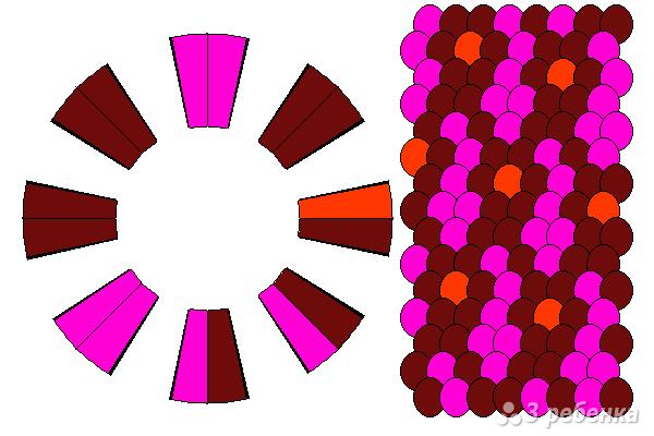 Схема фенечки кумихимо 15692