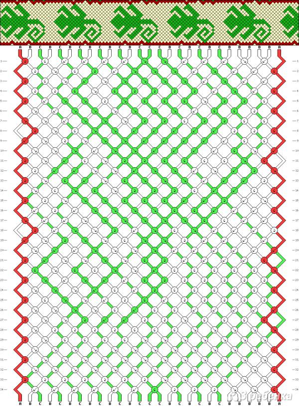 Схема фенечки 14086