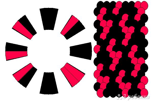 Схема фенечки кумихимо 15684