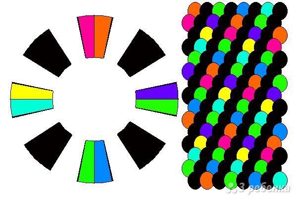 Схема фенечки кумихимо 15474