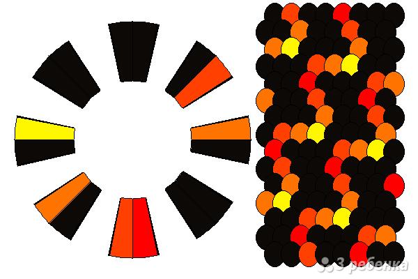 Схема фенечки кумихимо 15676