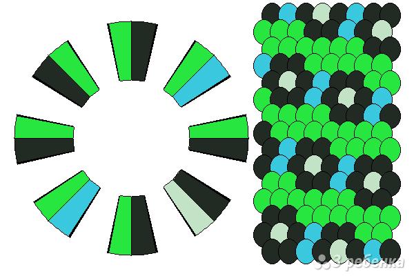 Схема фенечки кумихимо 15667