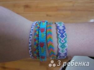 Схема фенечки прямым плетением 14899