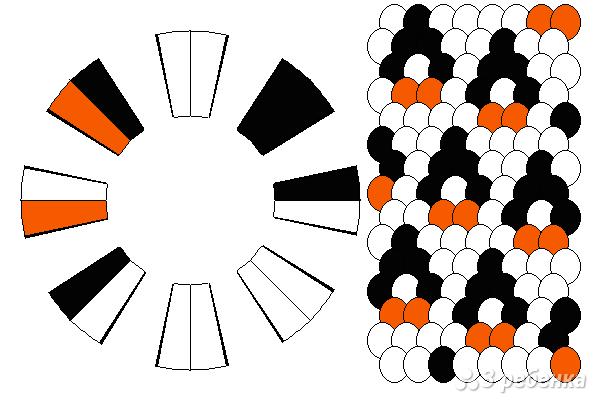 Схема фенечки кумихимо 15452