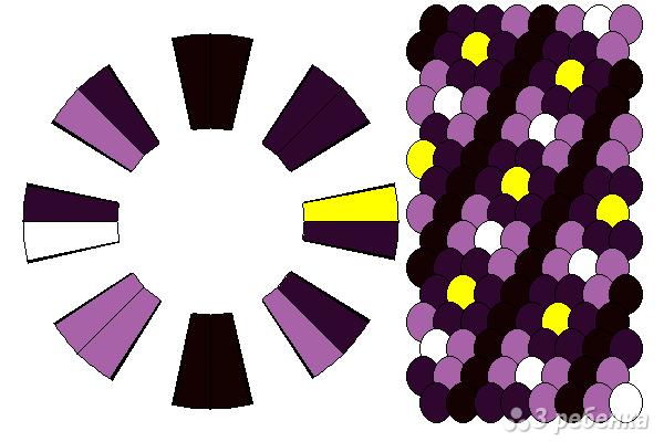 Схема фенечки кумихимо 15663