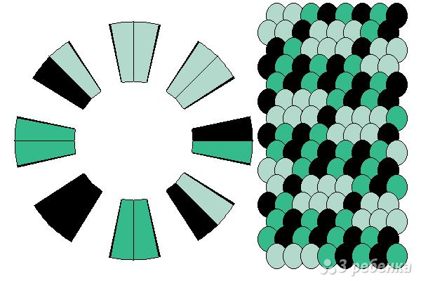 Схема фенечки кумихимо 15655