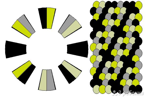 Схема фенечки кумихимо 15651