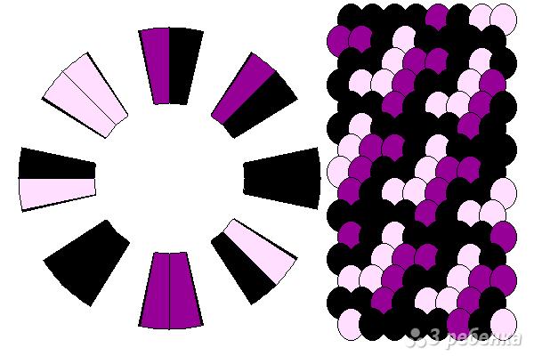 Схема фенечки кумихимо 15647